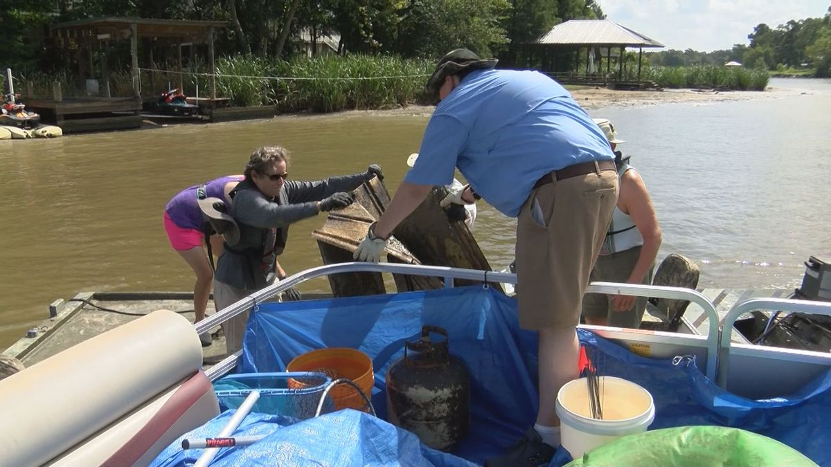 Volunteers rallied Saturday, August 10 to address a growing problem with trash and debris...