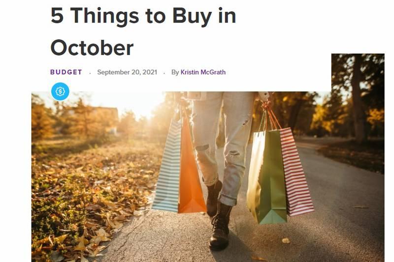 Five Things to Buy in October (RetailMeNot.com)