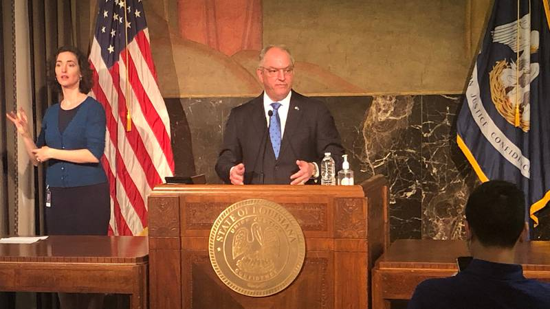 Gov. John Bel Edwards held a news conference about Louisiana's rise in COVID-19 cases Friday,...