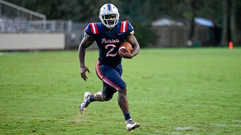 Liberty running back Kaleb Jackson (2)