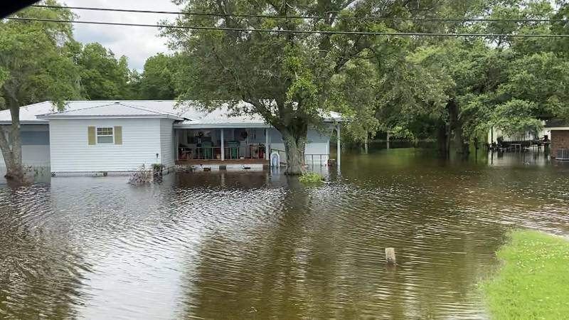 Residents in Bayou Pigeon are desperate for flood relief.