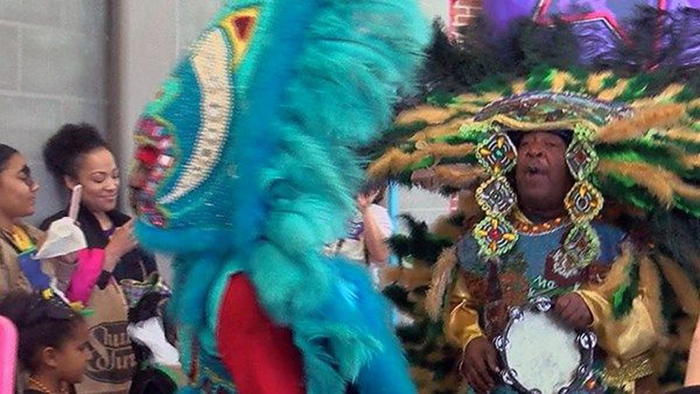 Mardi Gras Indians performing at the Knock Knock Children's Museum (Source: WAFB)