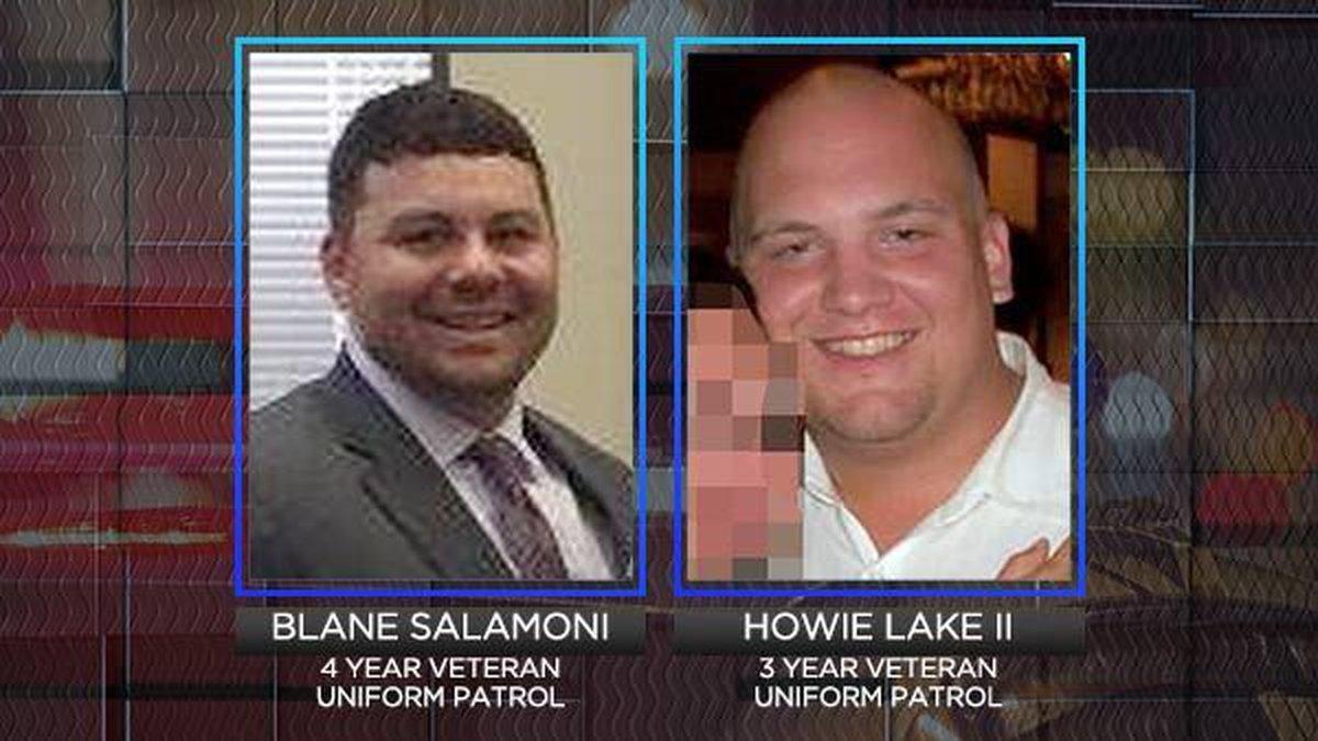 Officers Blane Salamoni and Howie Lake II