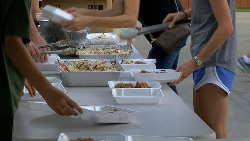 Livingston Parish food drive at St. Margaret in Albany, LA