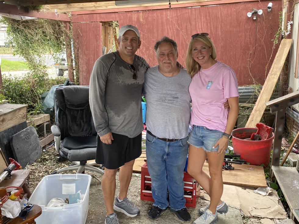When Marcy Maurer saw Frank on the news the day after the hurricane, she knew she had to do...