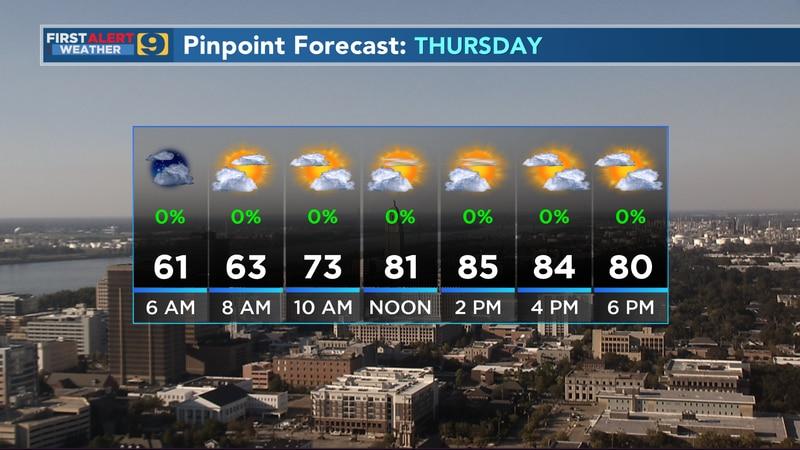 Thursday pinpoint forecast