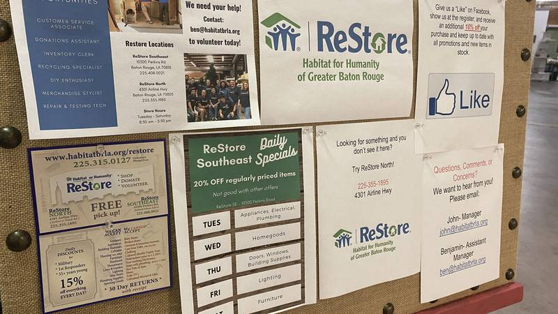 Habitat for Humanity of Greater Baton Rouge ReStore.