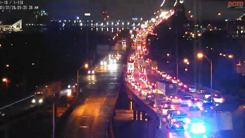 A crash involving an 18-wheeler brought traffic to a screeching hault Friday, Jan. 31.