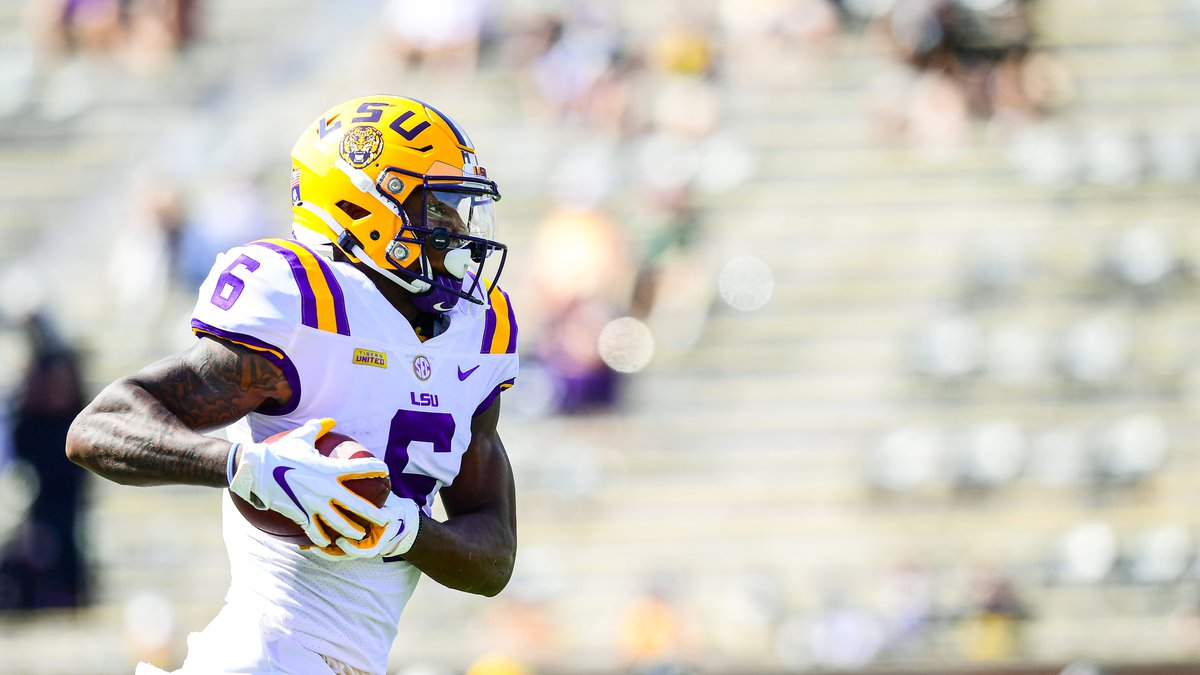 Terrace Marshall Jr. during the second half of a game between LSU and Missouri at Memorial...
