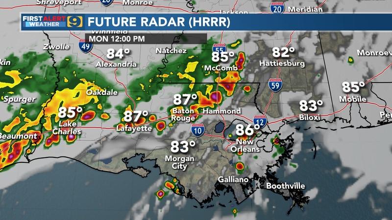 Future radar for Monday, July 12.