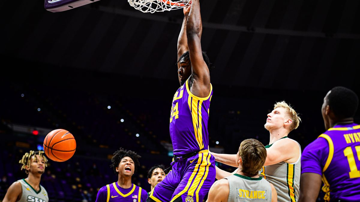 Josh Gray of the LSU Tigers during a game against the Southeastern Lions at PMAC on November...