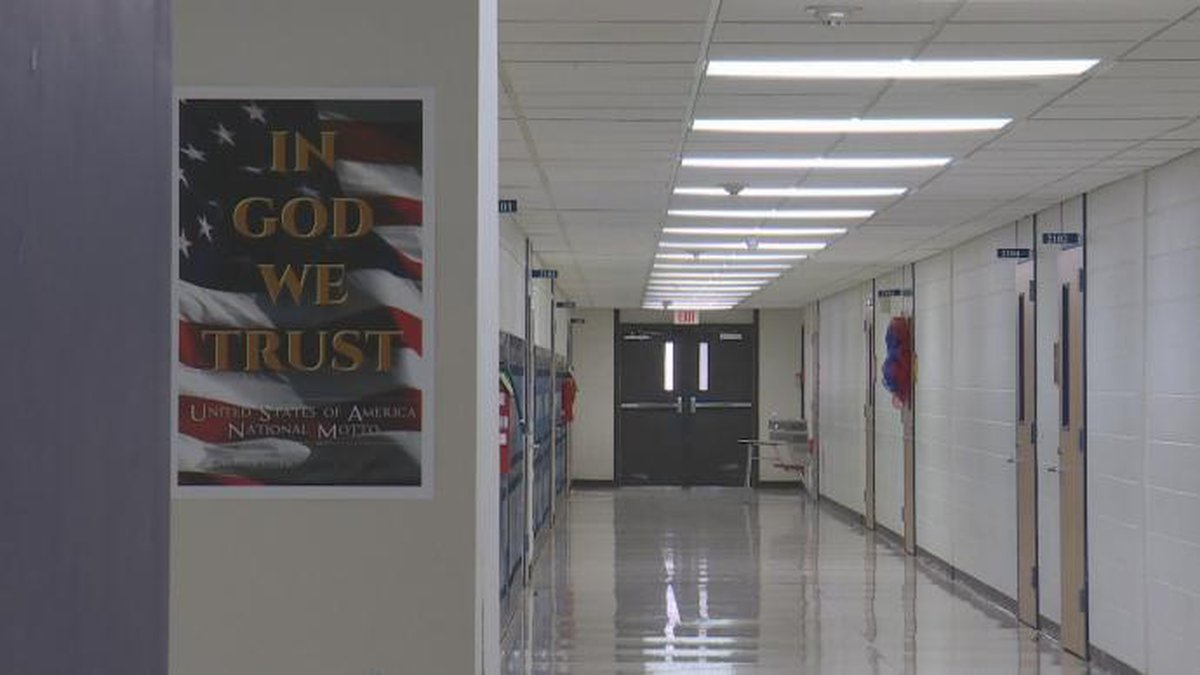 The words 'In God We Trust' will be displayed in every Louisiana public school starting in the...