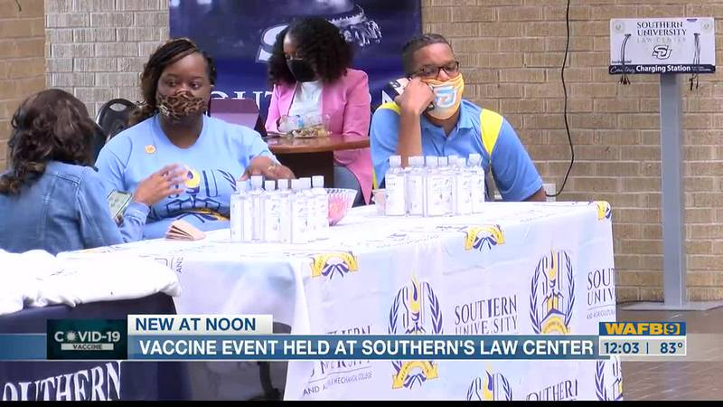 Do Your Part, Take the Shot COVID-19 vaccine event held at Southern University Law Center
