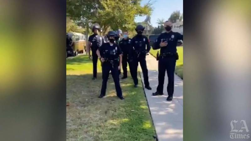 A Black Lives Matter activist is suing the LAPD after they responded to a call at her home that...