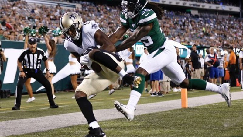 Drew Brees connected with Michael Thomas for a 19-yard TD. (Source: New Orleans Saints)