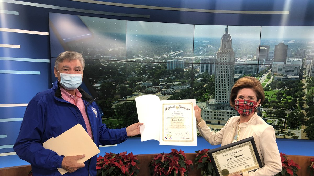 On the eve of her retirement from WAFB-TV, longtime weathercaster Diane Deaton was named...