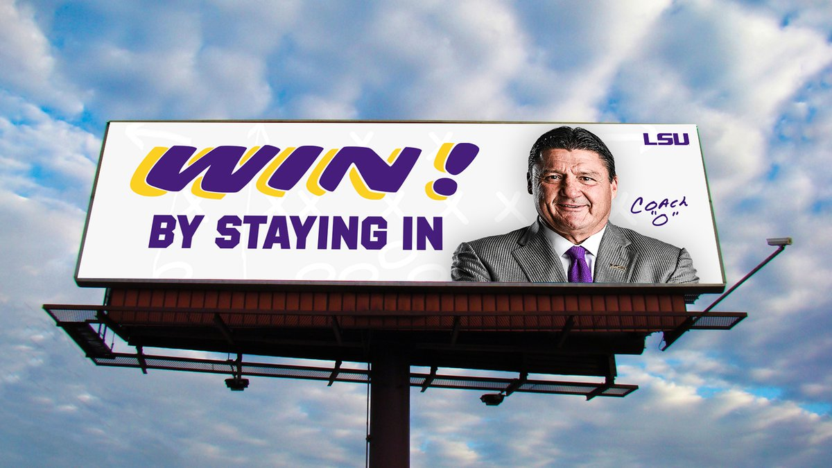 LSU is encouraging people to following the Governor's advice and stay home during the COVID-19...