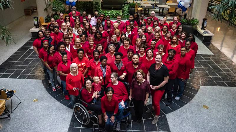 GF Default - Blue Cross employees recognize Wear Red Day