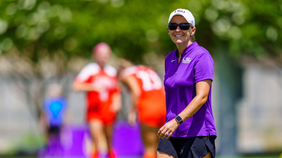LSU head soccer coach Sian Hudson.