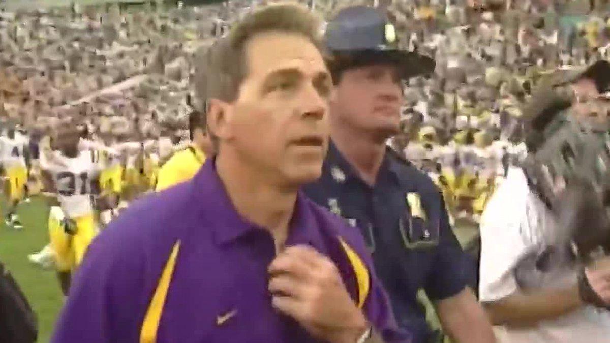 Former LSU head coach Nick Saban