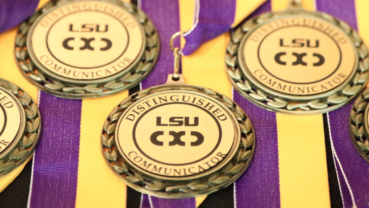 LSU Distinguished Communicator medals, Communication across the  Curriculum