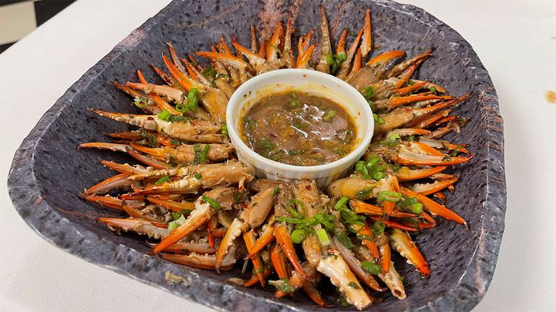 Hot and Spicy Crab Claws