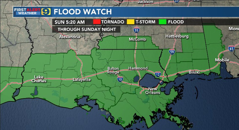 Flood Watch in effect through the night of Sunday, May 2, 2021