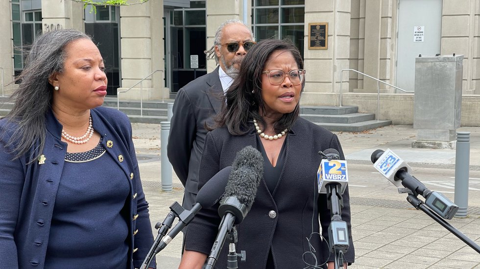 Attorneys representing Sharon Lewis, LSU's associate athletic director of football recruiting,...