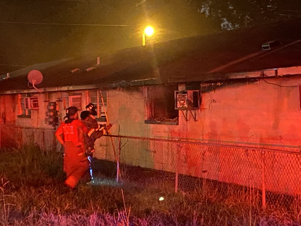 Firefighters arrived on scene to find heavy smoke coming from an apartment unit.