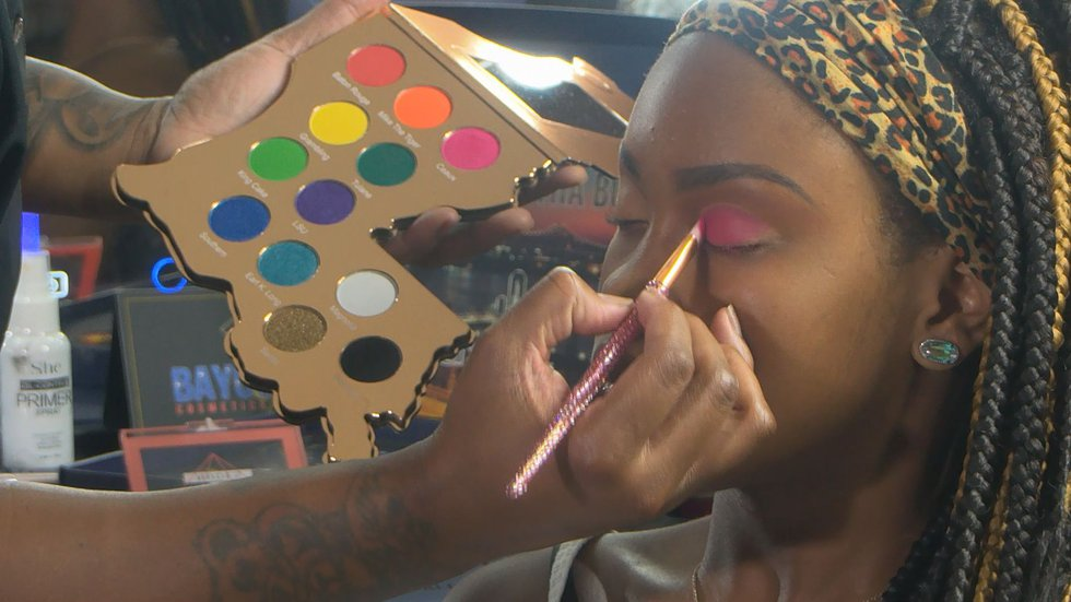 """Courtney's paintings are not for the world, but for her subject. """"When you do makeup, it gives..."""