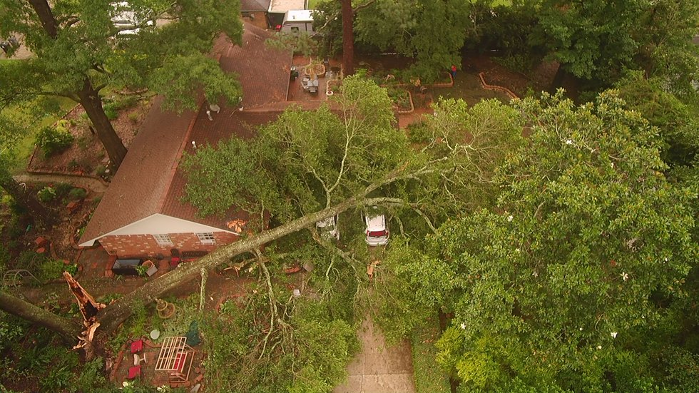 Storm Damage in Indian Mounds subdivision near Central June 24, 2020