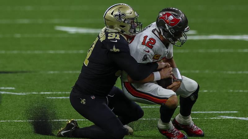 Sep 13, 2020; New Orleans, Louisiana, USA; New Orleans Saints defensive end Trey Hendrickson...