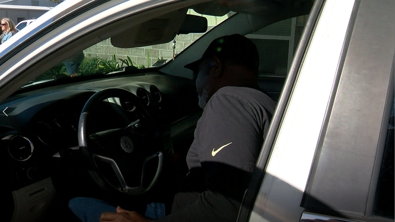 Homeless veteran Larry Abrams is gifted a vehicle.