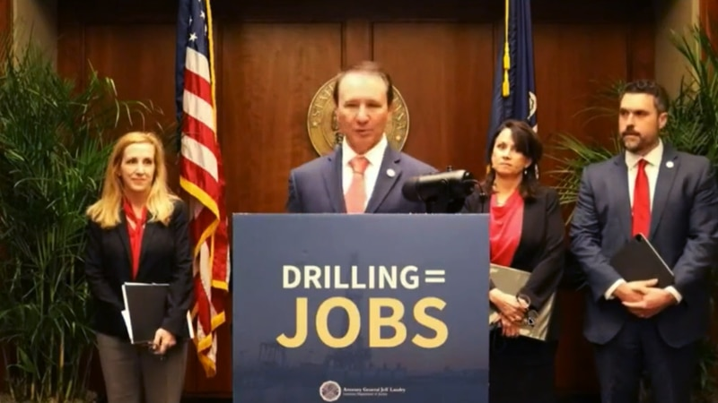 Louisiana Attorney General Jeff Landry held a news conference Wednesday, March 24, 2021 to...