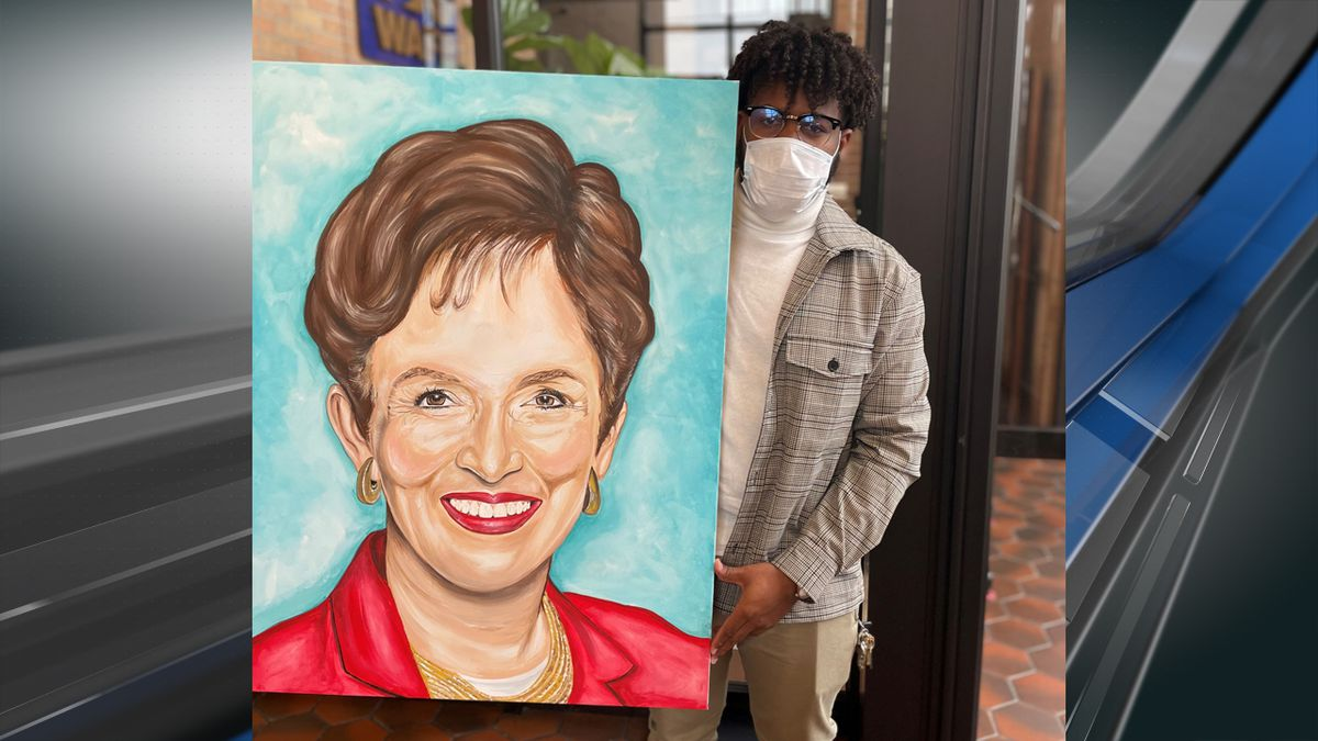 Thank you to local artist Amos Brown, Jr. for this special gift to WAFB.