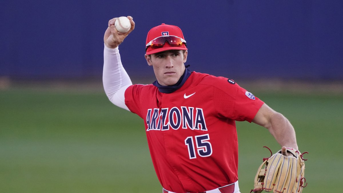 Arizona third baseman Jacob Berry (15) during an NCAA baseball game against Ball State on...