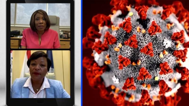 East Baton Rouge Mayor-President Sharon Weston Broome and New Orleans Mayor LaToya Cantrell...