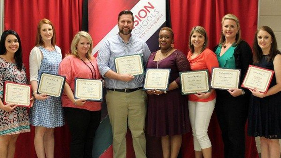 2016-17 Middle School Teachers of the Year (Source: Ascension Parish School Board)