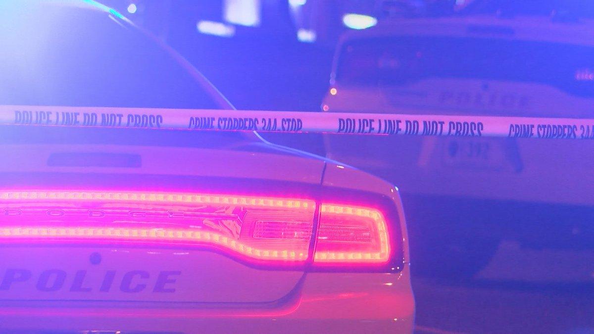Baton Rouge Police Department unit and crime scene tape.