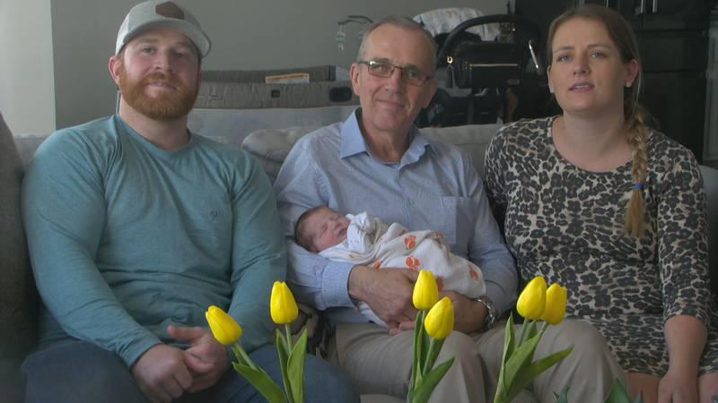 Three generations one birthday