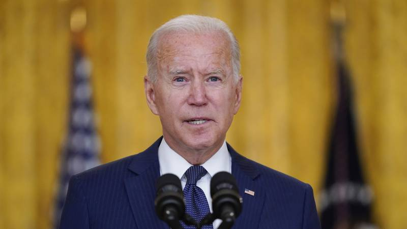 President Joe Biden speaks about the bombings at the Kabul airport that killed at least 12 U.S....