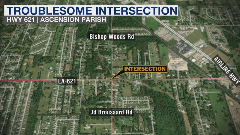 Residents living on LA 621 in Gonzales, where Bishop Woods Road and JD Broussard Road meet, are...