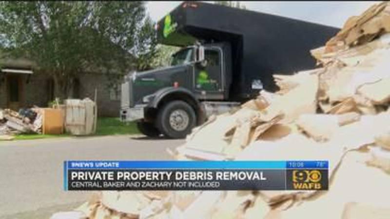 Baton Rouge set to start Private Property Debris Removal program