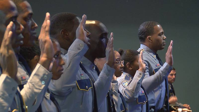 Nine cadets graduated from the 87th Basic Training Academy class of the Baton Rouge Police...