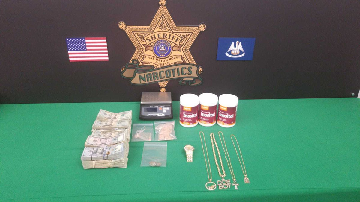 Items allegedly seized during the execution of a search warrant.
