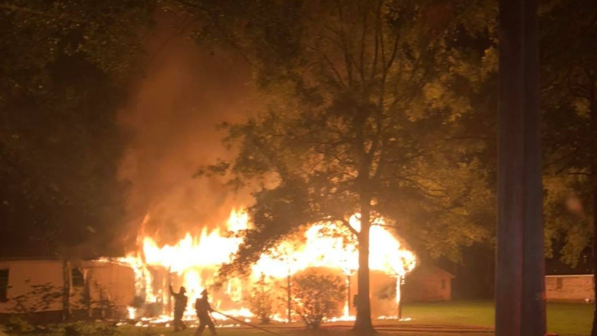 A dead person was found inside an overnight fire in Hammond home.