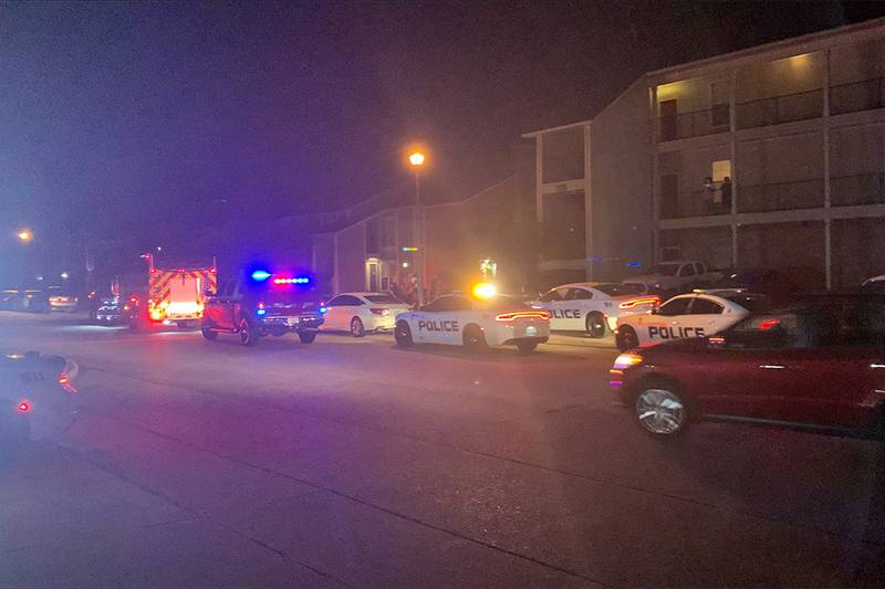 Two people are dead after a shooting at an apartment complex on Longridge Avenue on Oct. 24,...