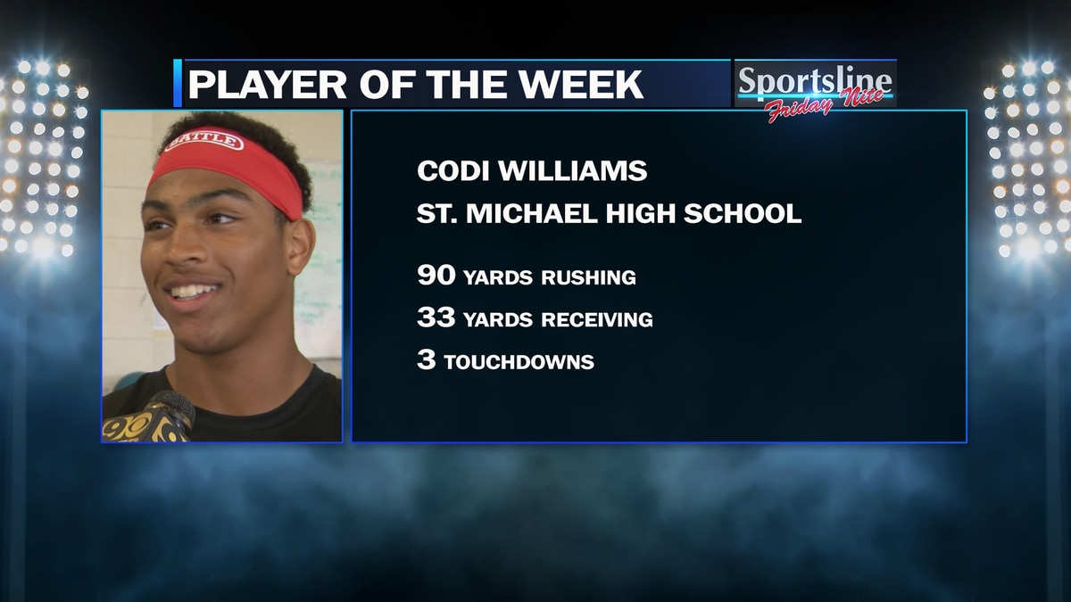 St. Michael running back Codi Williams was 2019 Sportsline Player of the Week for Week 6.