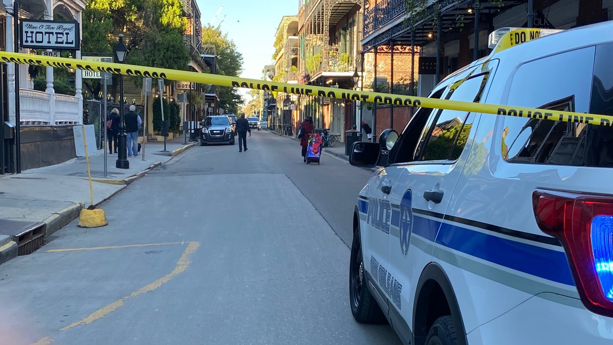 New Orleans police say an officer was shot in the French Quarter on Friday afternoon.