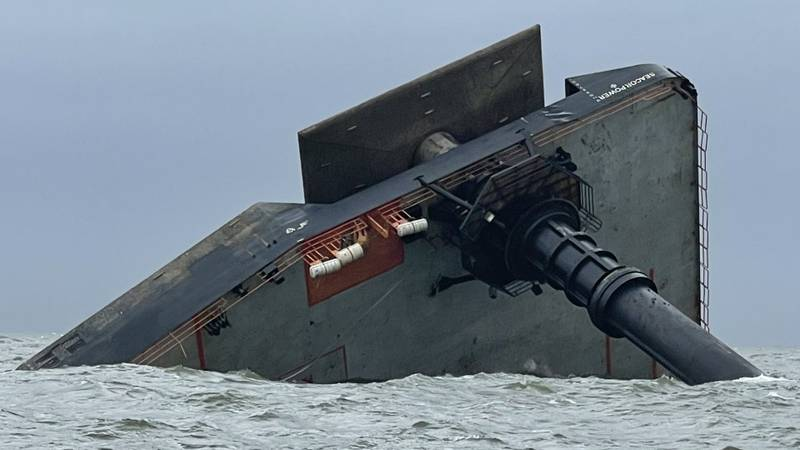The Seacor Power capsized on Tuesday, April 13.
